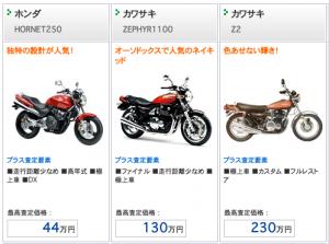 バイク買取価格表